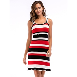 Shoespie Pullover Stripe Patchwork Women's Bodycon Dress