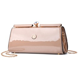 Shoespie Glossy Plain Cross Body Bag
