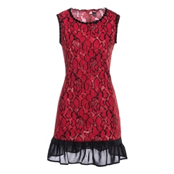 Shoespie Sleeveless Round Neck Pullover Women's Bodycon Dress