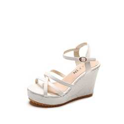Wedge Sandals Ankle Platform Strap Heel Women's Shoes