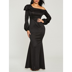 One-Shoulder Trumpet Women's Maxi Dress