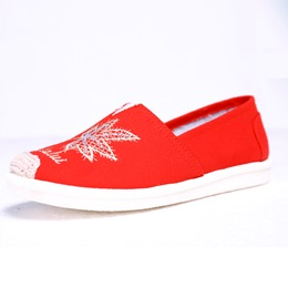 Embroidery Women's Boat Shoes