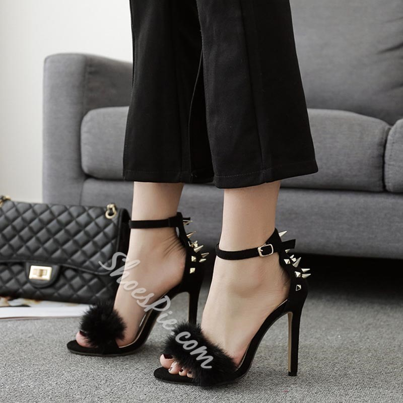 Rivet Buckle Stiletto Heels