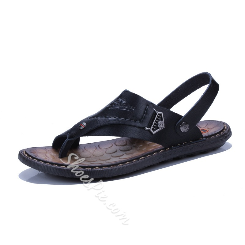 Casual Summer Slip-On Men's Thong Sandals