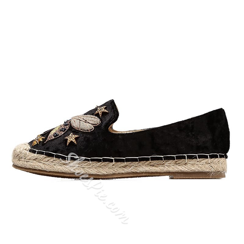 Embroidery Sewing Women's Boat Shoes