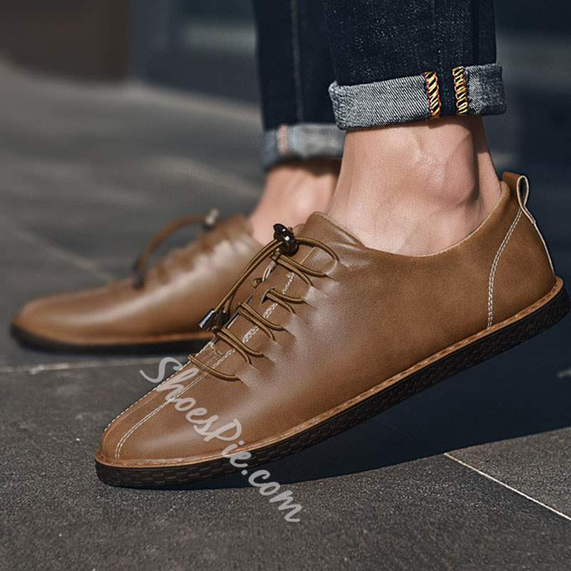 Casual Men's Loafers Elastic Band Sneakers