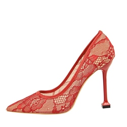 Mesh Slip On Stiletto Heel Pumps
