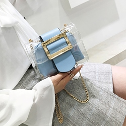 Shoespie Summer Vacation PVC Chain Crossbody Bag