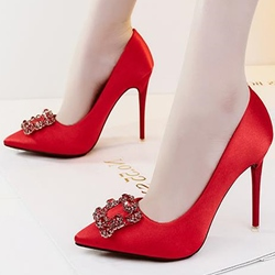 Rhinestone Plain Stiletto Heels