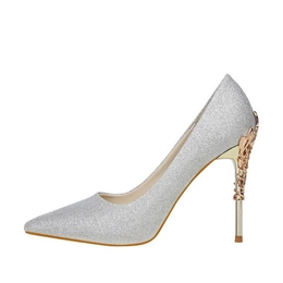 Pointed Toe Sequin Stiletto Heels