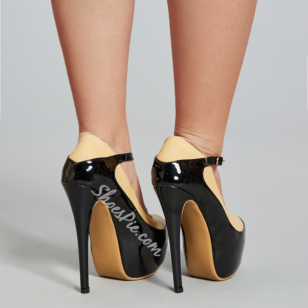 Color Block Platform High Stiletto Heels