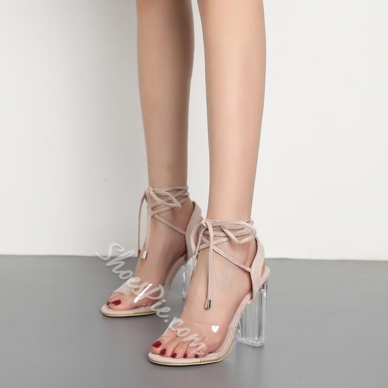 Ankle Strap Jelly High Heel Dress Sandals