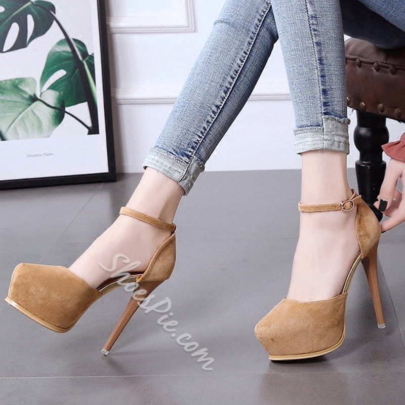 Sexy Plain Platform High Stiletto Heels