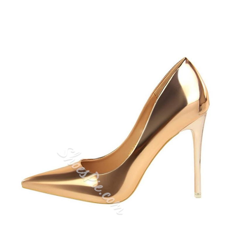 Plain Slip On Stiletto Heel Pumps
