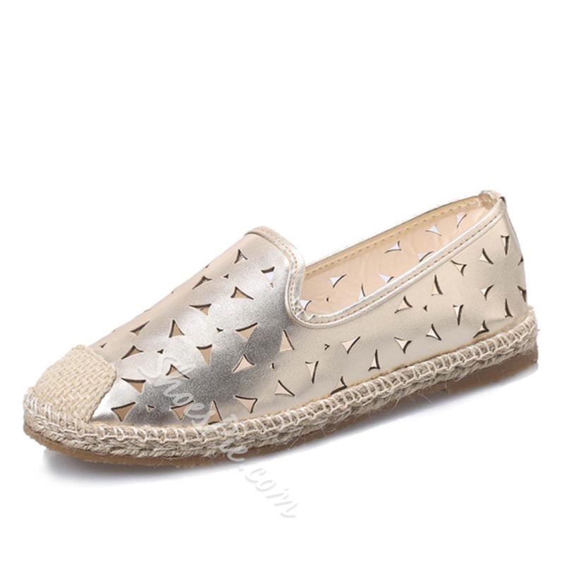 Plain Hollow Sewing Women's Boat Shoes