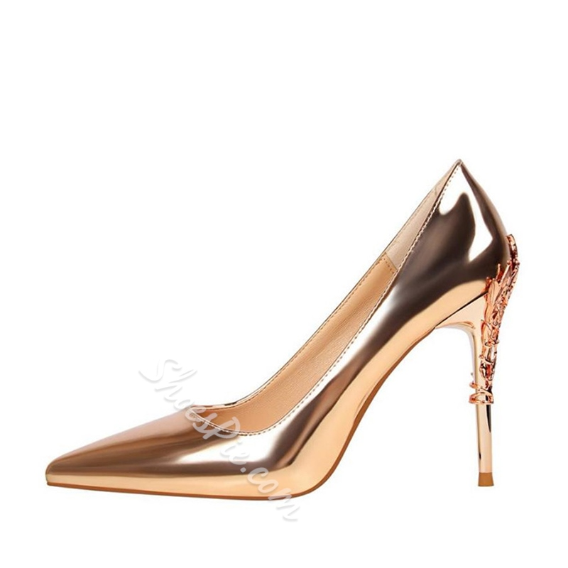 Sequin Pointed Toe Slip-On Sexy Stiletto Heels