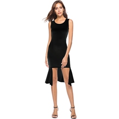 Summer Sleeveless Asymmetric Bodycon Dresses