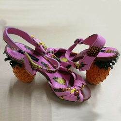 Shoespie Cute Pink Pineapple Heel Sandals