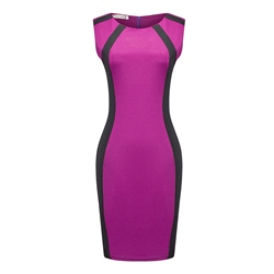 Shoespie Patchwork Pullover Single Women's Bodycon Dress