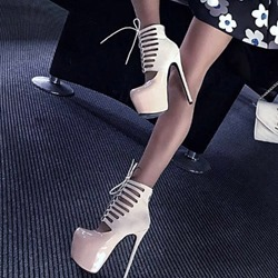 Banquet Cross Strap Platform Stiletto Heels