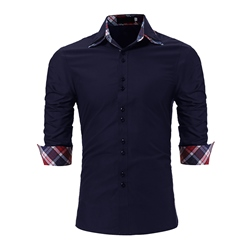 Plain Lapel Slim Shirt