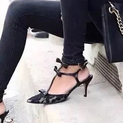 Bow Strappy Stiletto Heels