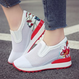 Mesh Hidden Elevator Heel Women's Shoes
