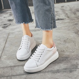 Hollow Platform Lace-Up Women's Sneaker