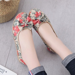 Floral Print Women's Casual Shoes
