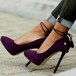 Purple Pointed Toe High Stiletto Heels