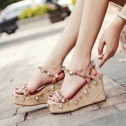 Rhinestone Ankle Strap Hasp Sexy Sneakers