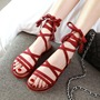 Casual Lace-Up Summer Ankle Strap Flat Sandals