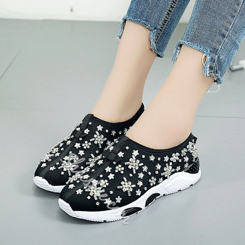 Rhinestone Bow Women's Casual Shoes