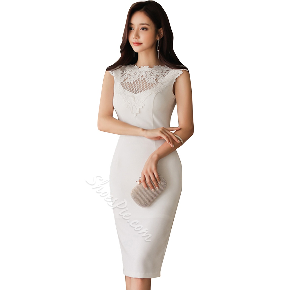 Shoespie Hollow Plain Pencil Women's Bodycon Dress