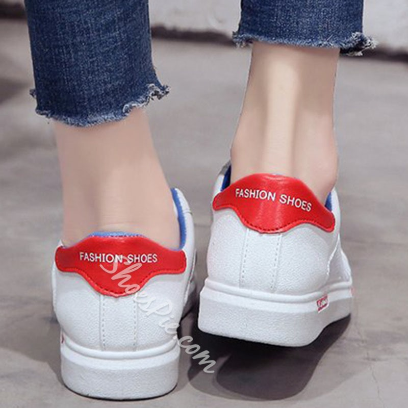 Shoespie Lace-Up Low Upper Round Toe Sneakers