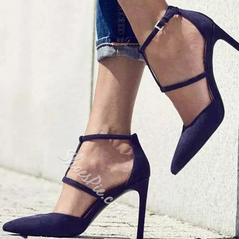 Plain Pointed Toe Stiletto Heel Pumps