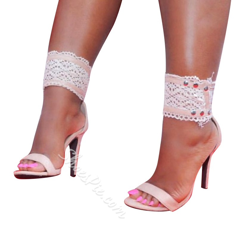 Heel Covering Stiletto Heel Open Toe Sandals