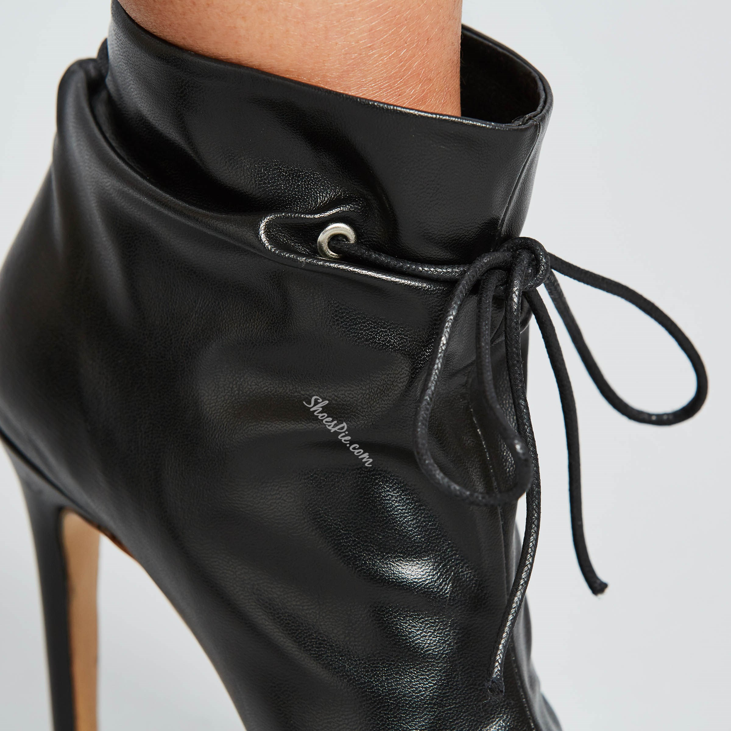 Shoespie Genuine Leather Solid Color High Heel Ankle Boots