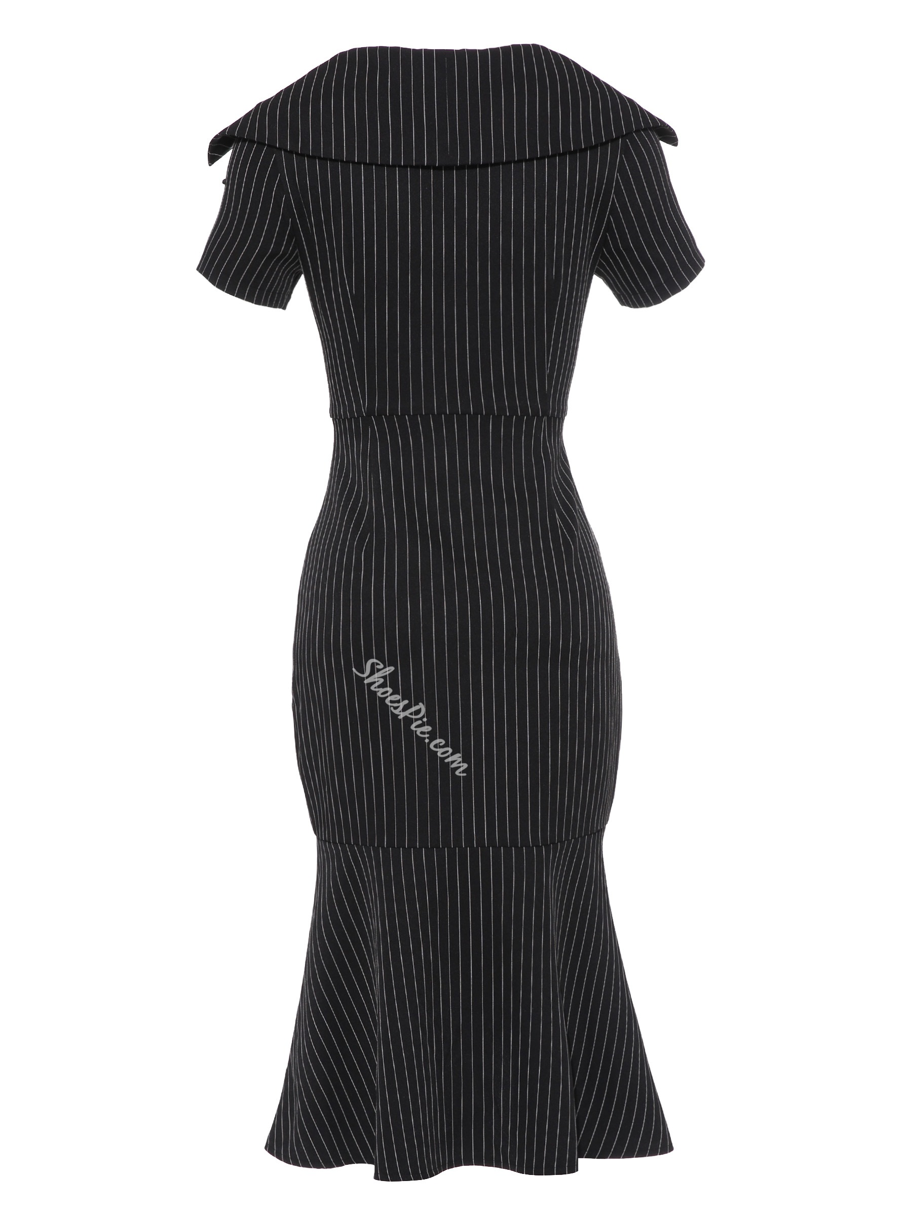 Shoespie Lapel Patchwork Women's Bodycon Dress