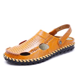 shoespie casual summer cloesd toe men's sandals