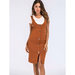 Shoespie Pullover Button Women's Bodycon Dress