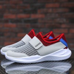 Shoespie Low-Cut Upper Velcro Round Toe Slip On Men's Sneakers