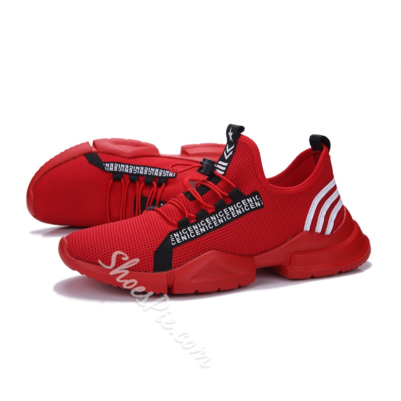 Breathable Concise Elastic Band Men's Sneakers