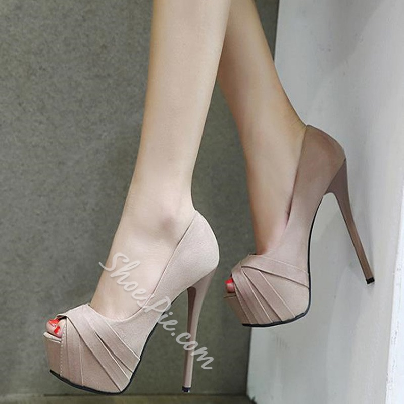 Shoespie Fashion Peep-toe Platform High Heels