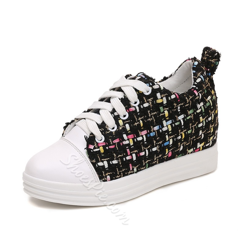 Shoespie Casual Summer Hidden Elevator Heel Sneakers