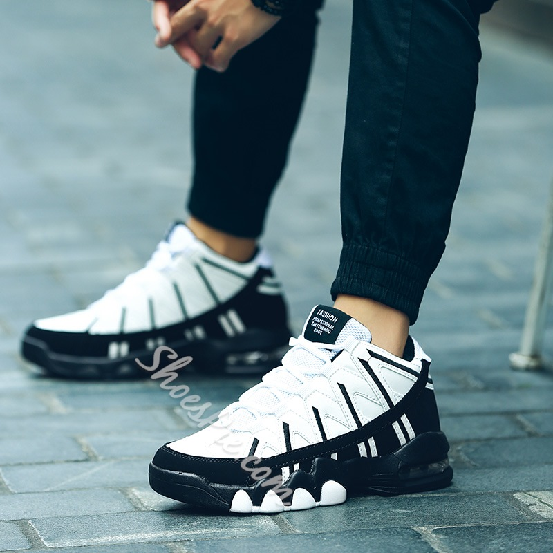 Shoespie Chic Color Block High Upper Couple's Sneakers