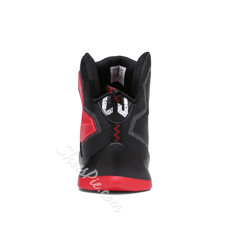 Shoespie Red &Black Round Toe Couple's Sneakers