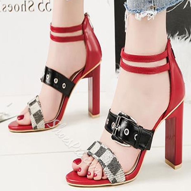 Shoespie Amazing Sexy Zipper Open Toe Heels