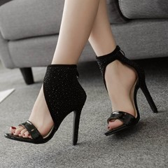 Shoespie Sexy Black Heel Covering Dress Sandals