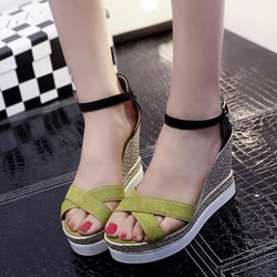 Shoespie Heel Covering Open Toe Wedge Heels